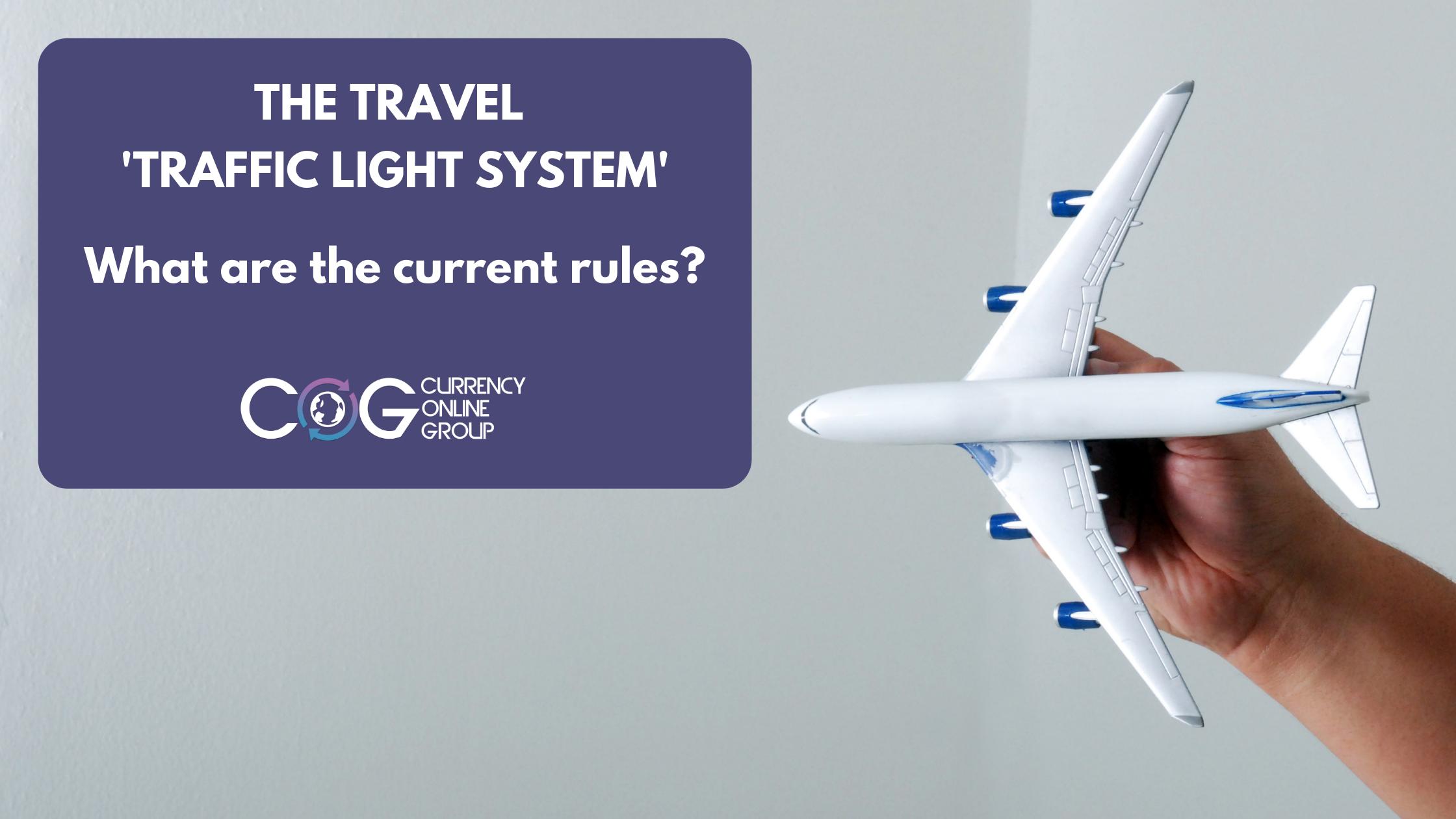September 2021 rules for the travel 'Traffic Light System'